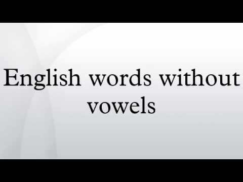 English words without vowels