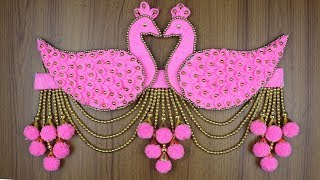 Amazing Peacock Design Door/Wall Hanging Toran - Woolen Door Hanging Making - Woolen art and craft