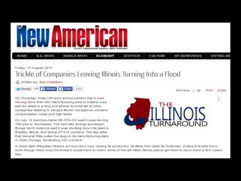 Trickle of Companies Leaving Illinois Turning Into a Flood