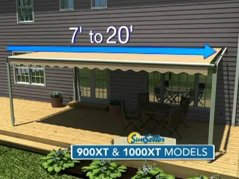 Sunsetter 1000xt And 900xt Awnings Youtube