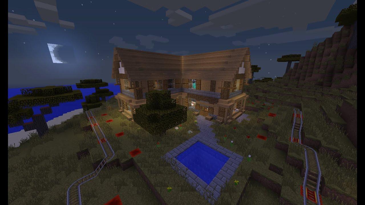 tuto maison en bois et en pierre minecraft les bases. Black Bedroom Furniture Sets. Home Design Ideas