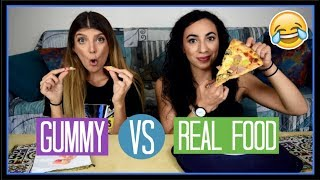 Gummy VS Real Food || fraoules22
