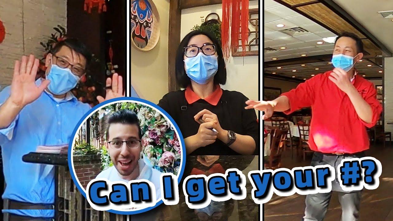 老外在美国找最好吃的点心,突然飚出中文,中餐厅老板超开心!