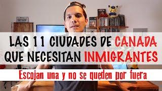 CANADÁ NECESITA INMIGRANTES EN ESTAS 11 CIUDADES // Nueva forma de inmigrar RURAL Y NORTE CANADÁ 🍁 thumbnail