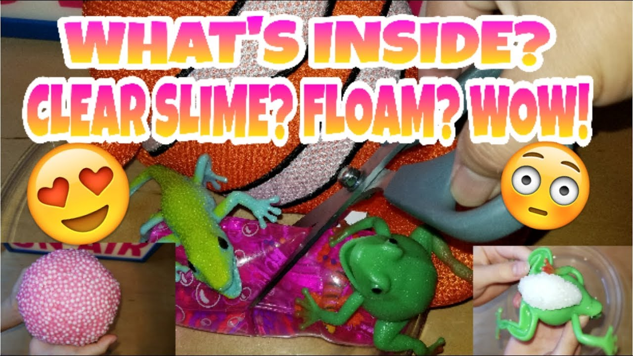 Squishy Toys With Stuff Inside : WHAT S INSIDE MY SQUISHY SQUEEZE TOYS? CLEAR SLIME? FLOAM? WE MADE A HUGE MESS ???????????? #3 - YouTube