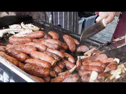 Italian Stuffed Pork, Buffalo Mozzarella, Florence Sausages Seen London. World Street Food