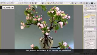 3ds max Моделирование цветов