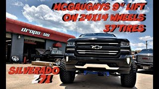 "SILVERADO Z71 WITH A 9"" MCGAUGHYS LIFT KIT ON 37"" TIRES BACK ON THE STREETS"