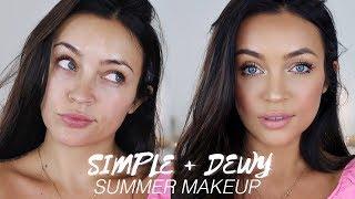 SIMPLE DEWY SUMMER MAKEUP ROUTINE (THAT LASTS!) | Stephanie Ledda
