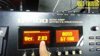Boss GT100: Hướng dẫn update version & cài phần mềm Boss tone Studio