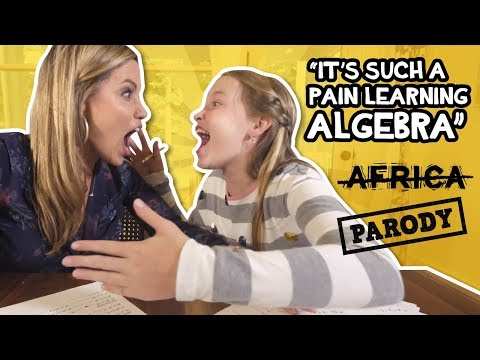 "ALGEBRA! ""It's such a pain learning Algebra!"" TOTO, Africa Parody"