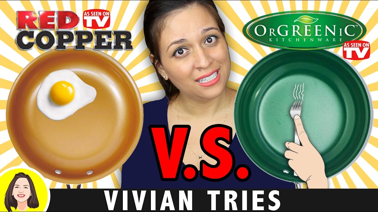 red copper pan vs orgreenic ceramic cookware review testing as seen on tv products youtube. Black Bedroom Furniture Sets. Home Design Ideas