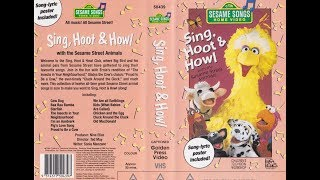 Sesame Songs Home Video Sing, Hoot & Howl With The Sesame Street Animals