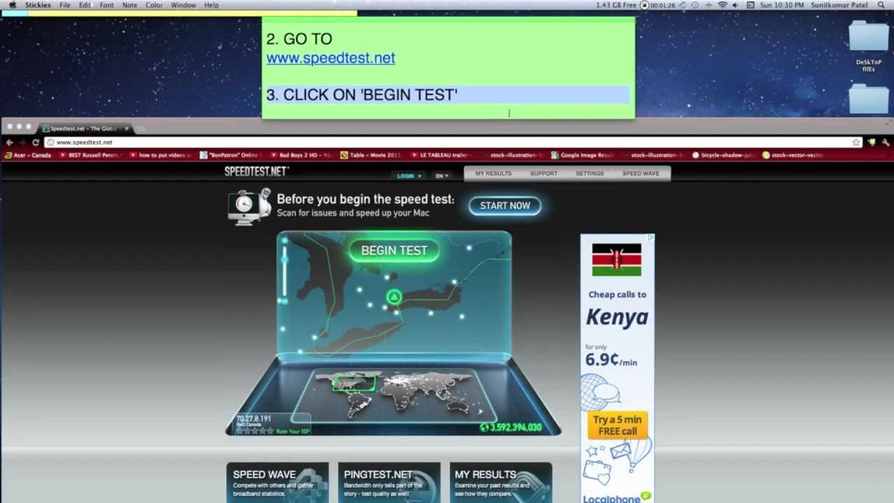 How to check download speed on mac