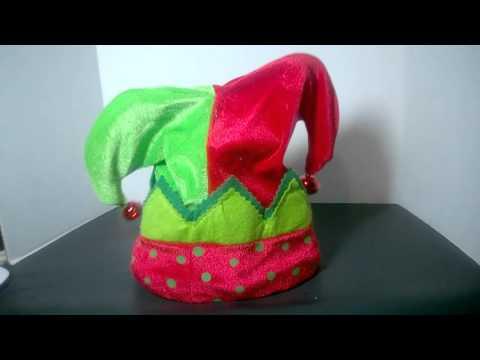 Animated Musical Dan Dee Christmas Elf Jester Hat Sings We Are Santa's Elves