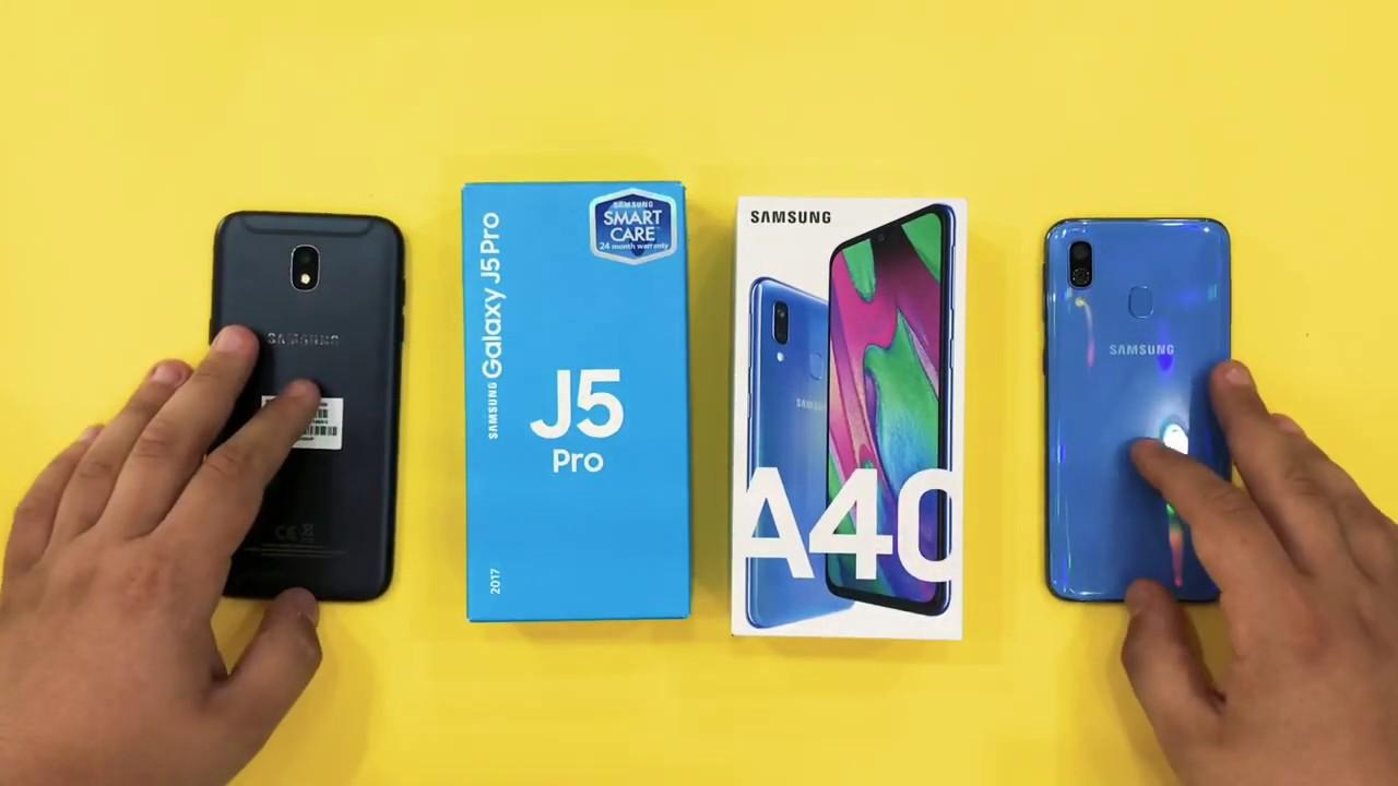 Samsung Galaxy J5 2017 vs Samsung Galaxy A40 - YouTube