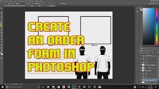 Photoshop T-shirt Sipariş Formu Oluşturma