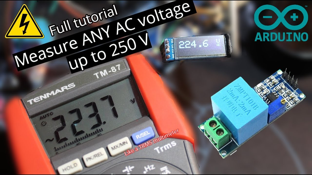 Easy measure of any AC voltage with Arduino and ZMPT101B (up to 250V)
