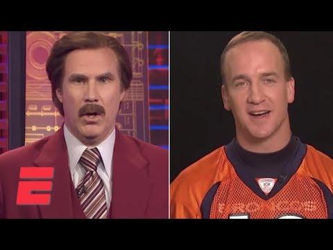Ron Burgundy Interviews Peyton Manning on SportsCenter | ESPN Archives