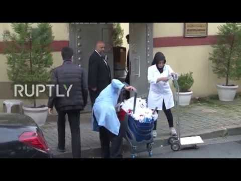 Turkey: Cleaning personnel enter Saudi consulate in Istanbul