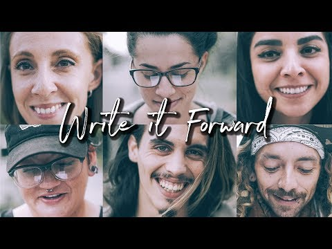 Write It Forward... {Strangers Pass Along a Written Letter}