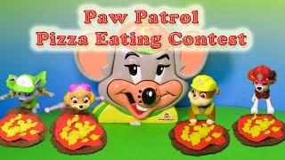 PAW PATROL Nickelodeon Paw Patrol Chuckee Cheese Pizza Eating Contest Paw Patrol Video