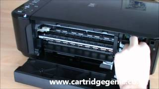 Canon Pixma MG2150 - How to replace printer ink cartridges(This video demonstrates on how to change the ink on a Canon Pixma MG2150 printer. http://www.cartridgegenie.co.uk., 2012-10-10T12:06:04.000Z)