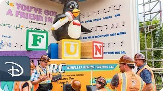 Imagineers Bring Wheezy to Life at Toy Story Land at Walt Disney World Resort