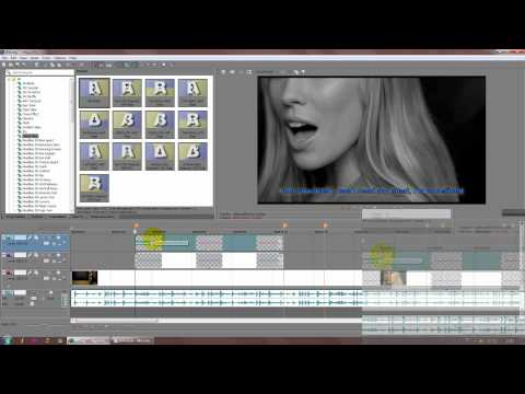- Tutorial Sony Vegas Pro 11 Legenda Karaokê (HD)
