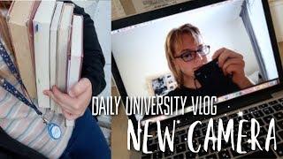 New Camera, Library Books, Studying and Vegan Food! || University Vlog