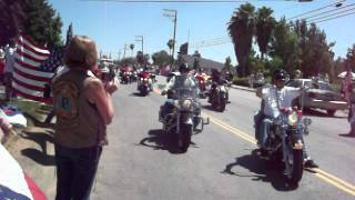 Funeral procession for Army Pfc. Nathan Tyler Davis in Yucaipa 6/22/12