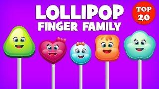 Lollipop Finger Family Song | Top 20 Finger Family Songs | Daddy Finger Rhyme