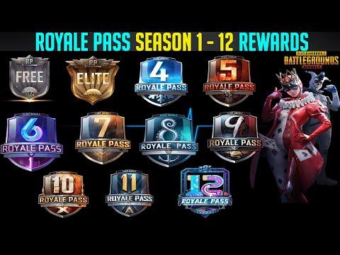 Pubg Mobile Royale Pass Season 1-12 Rewards