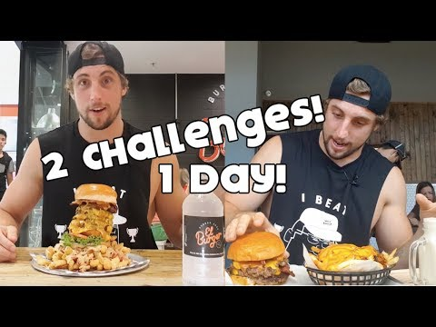 Double Food Challenge Cheat Day | Food Coma Calorie Feast