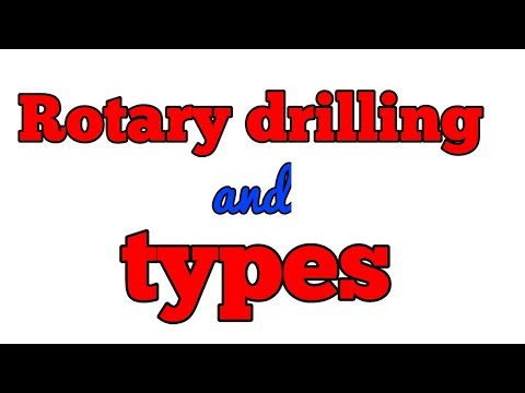 Rotary drilling in hindi || method of drilling || technical mining