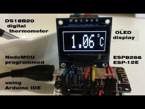 Digital Thermometer on OLED Display Using ESP8266 ESP-12E