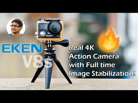 Eken V8s Review | Real 4K Action Camera with Full Time Image Stabilization!