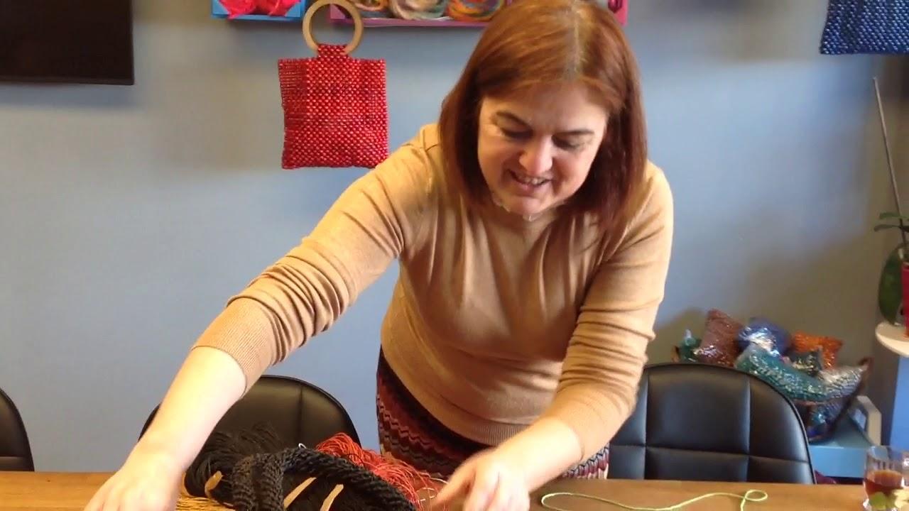 Sibel Kavaklıoğlu'ndan rafya clutch çanta kapağı anlatımı video 1