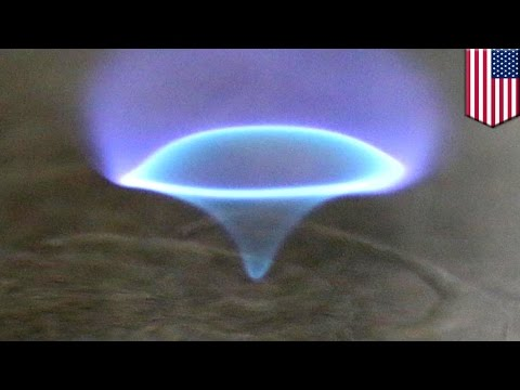 Blue Fire Tornado: 'Blue Whirl' Could Be The Answer To Cleaning Up Oil Spills - TomoNews