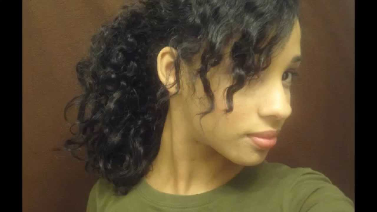5 Quick Easy Hairstyles For Thick Curly Hair Youtube