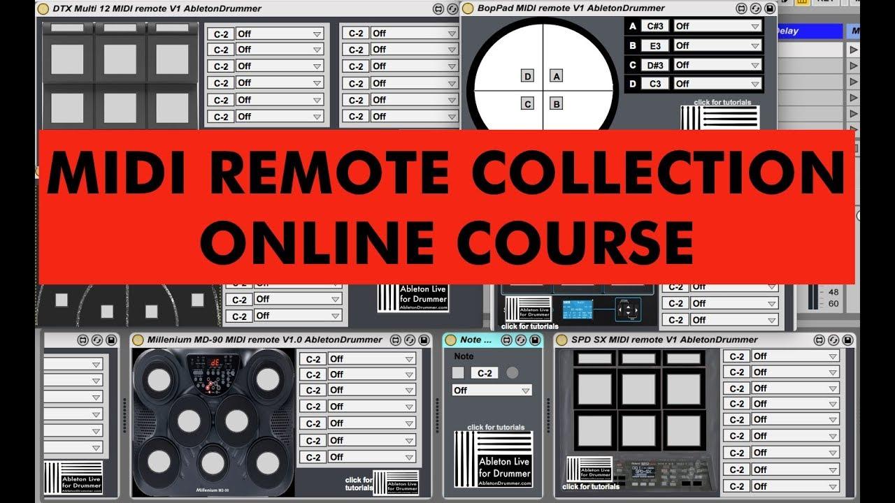 MIDI REMOTE ABLETON LIVE - MAX for Live devices