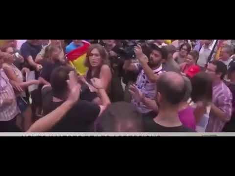 Así fue la agresión a un cámara de Telemadrid... al confundirlo con uno de TV3