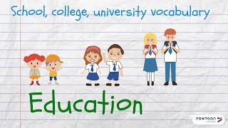 Speak About Education in English: School, College, University Vocabulary