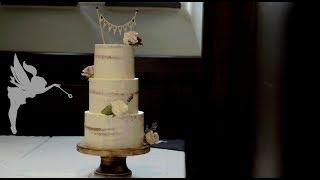 Making of Seminaked Weddingcake - Seminaked Hochzeitstorte mit 3 Etagen & echten Blumen - Kuchenfee