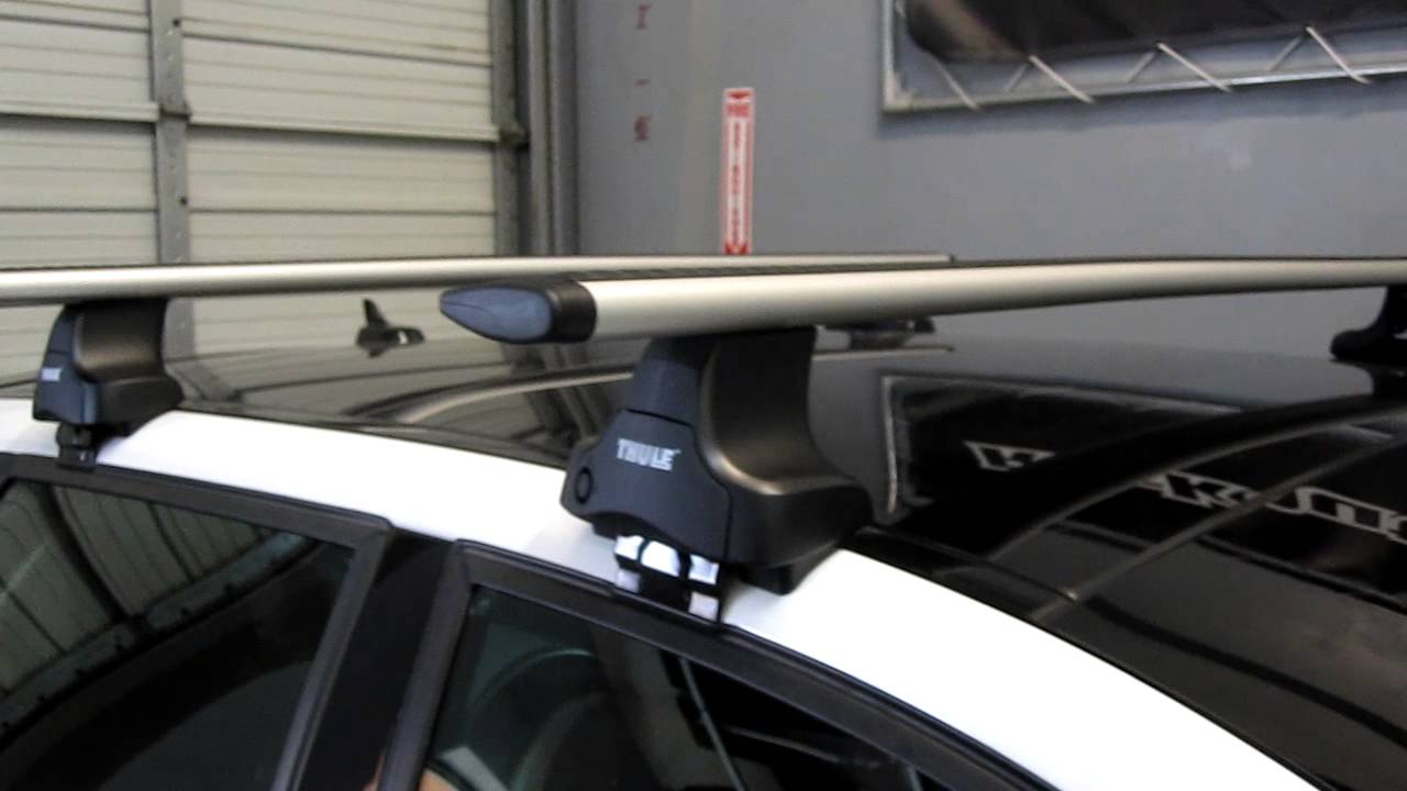 Audi A3 Sportback '06-'13* Thule 480R Traverse AeroBlade Roof Rack by Rack Outfitters - YouTube