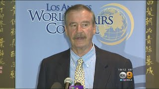Former Mexico President Vicente Fox Blasts Trump During L.A. Visit