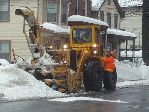 Clinton Ave & Cedar St Snow Removal February 21, 2014