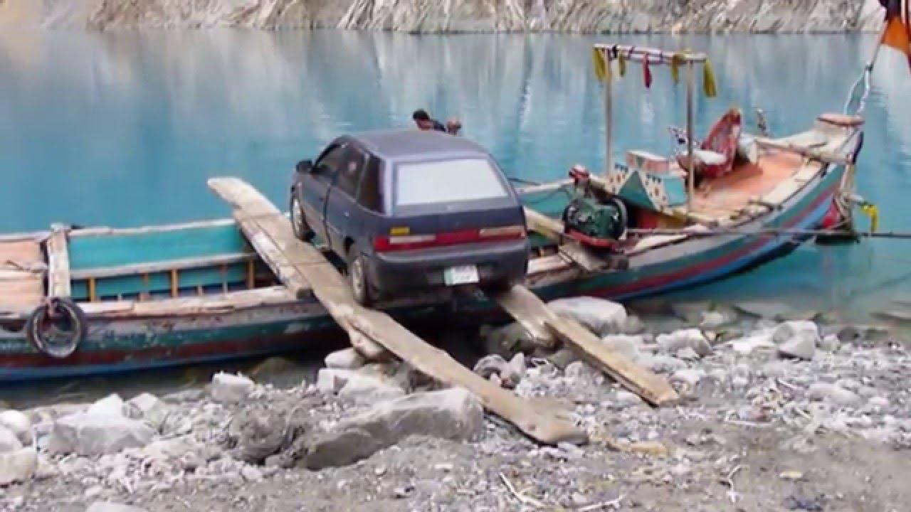 Transportation of Vehicles through Boats at Atabad Lake