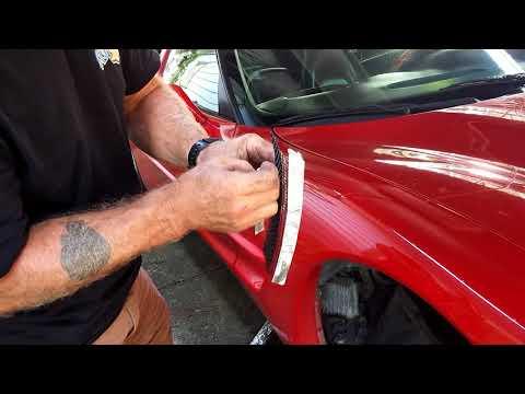Installing front fender screens on a c5 1998 corvette