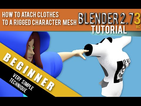 How To Attach Clothes To A Rigged Character Mesh In Blender 2 73